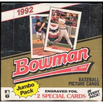 1992 Bowman Baseball 36 Pack Jumbo Box