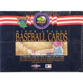 1992 Classic Best Minor League Baseball Hobby Box