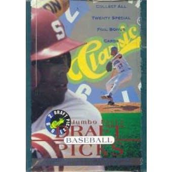 1992 Classic Draft Picks Baseball Jumbo Box