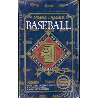 1992 Donruss Series 1 Baseball Hobby Box