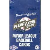1992/93 Fleer Excel Minor League Baseball Hobby Box (Reed Buy)