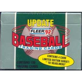1992 Fleer Update Baseball Factory Set