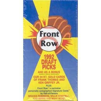 1992 Front Row Baseball Hobby Box