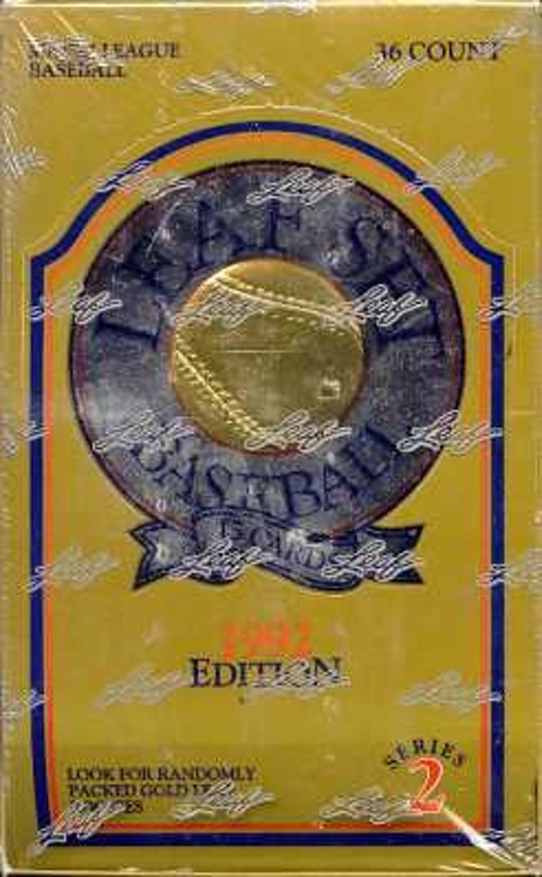 1992 Leaf Series 2 Baseball Wax Box Da Card World