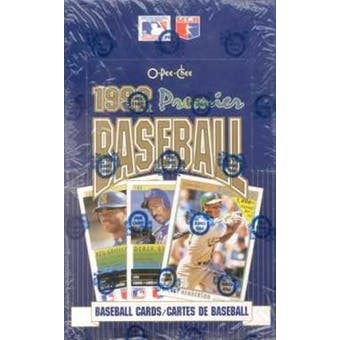 1992 O-Pee-Chee Premier Baseball Wax Box