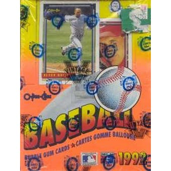 1992 O-Pee-Chee Baseball Wax Box