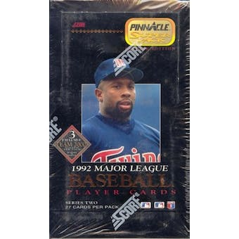 1992 Pinnacle Superpak Series 2 Baseball Hobby Box
