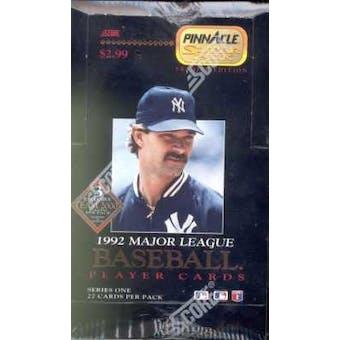 1992 Pinnacle Superpak Series 1 Baseball Hobby Box