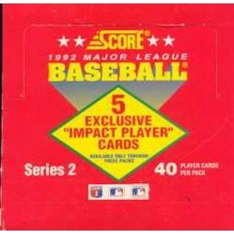 1992 Score Series 2 Baseball Cello Box