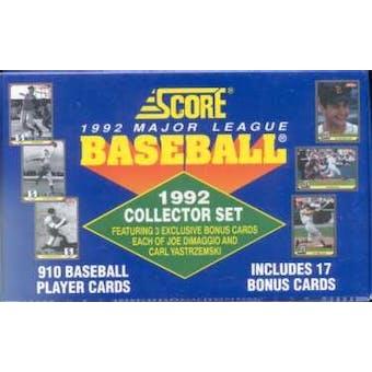 1992 Score Baseball Factory Set