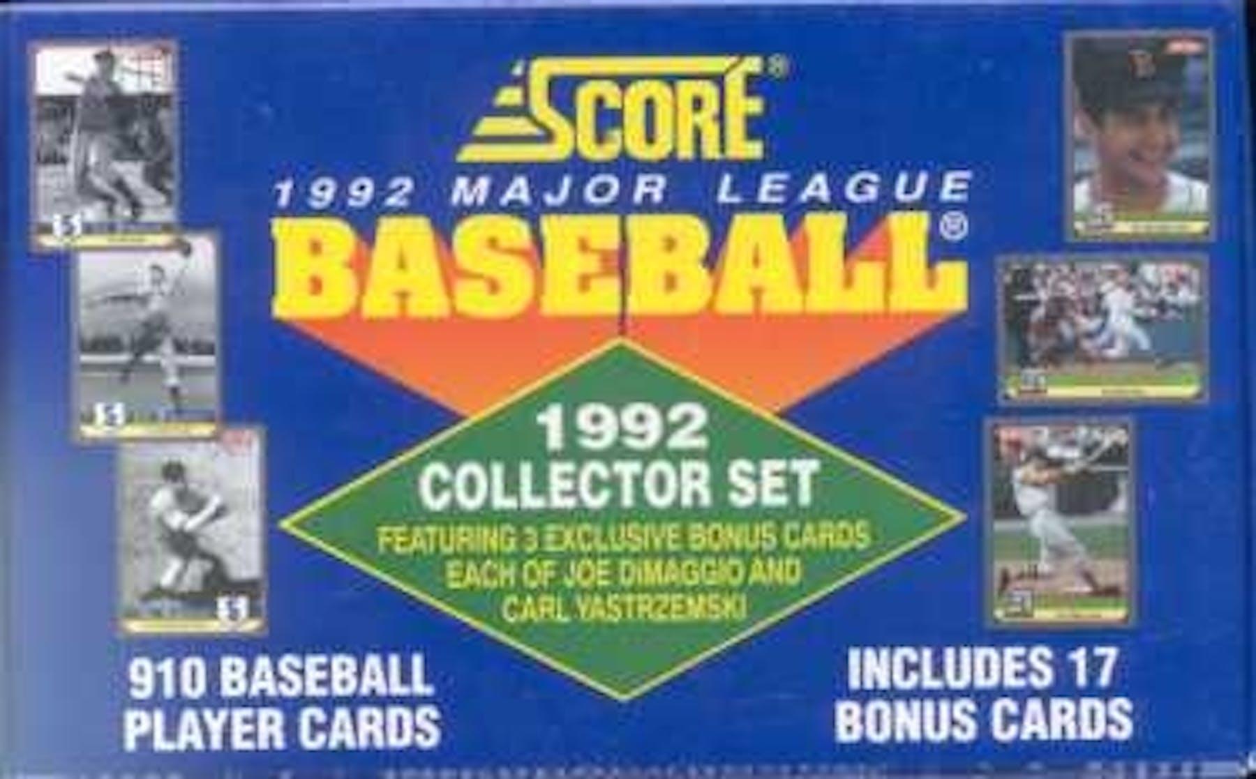 1992 Score Baseball Factory Set Da Card World