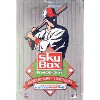 1992 Skybox AAA Minor League Baseball Wax Box