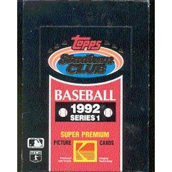 1992 Topps Stadium Club Series 1 Baseball Hobby Box