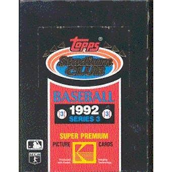 1992 Topps Stadium Club Series 3 Baseball Wax Box