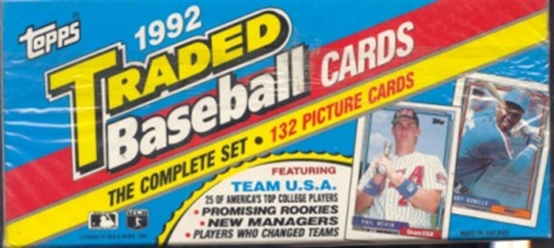 1992 Topps Traded Rookies Baseball Retail Set Da Card World