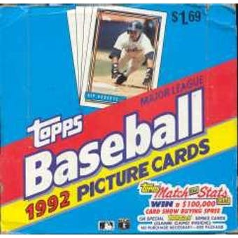 1992 Topps Baseball Cello Box