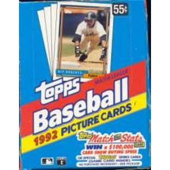 1992 Topps Baseball Wax Box