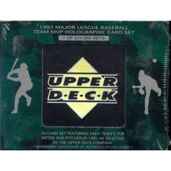 1992 Upper Deck Team MVP Holographic Baseball Factory Set