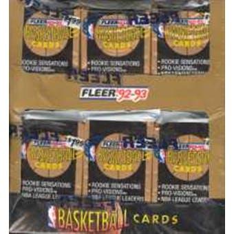 1992/93 Fleer Series 1 Basketball Jumbo Box
