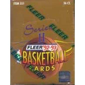 1992/93 Fleer Series 2 Basketball Hobby Box