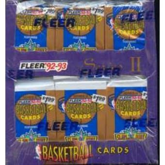 1992/93 Fleer Series 2 Basketball Jumbo Box