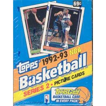 1992/93 Topps Series 2 Basketball Hobby Box