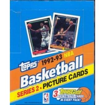 1992/93 Topps Series 2 Basketball Rack Box