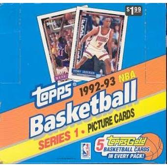 1992/93 Topps Series 1 Basketball Jumbo Box