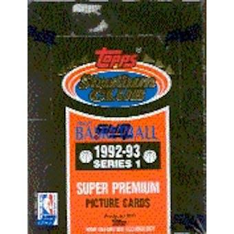 1992/93 Topps Stadium Club Series 1 Basketball Hobby Box