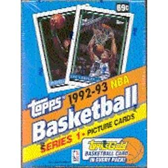 1992/93 Topps Series 1 Basketball Hobby Box