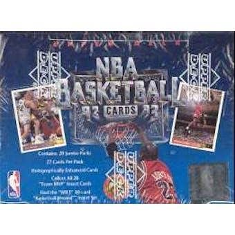 1992/93 Upper Deck Low # Basketball Jumbo Box
