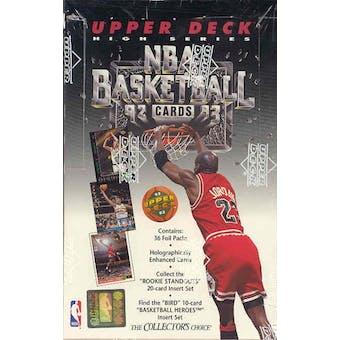 1992/93 Upper Deck Hi # Basketball 36 Pack Box