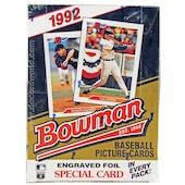 1992 Bowman Baseball Hobby Box (Reed Buy)