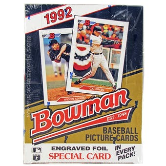 1992 Bowman Baseball Hobby Wax Box