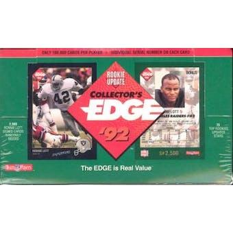 1992 Collector's Edge Rookie Update Football Wax Box