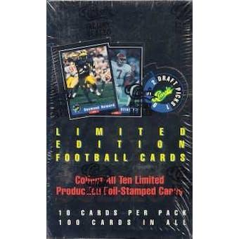 1992 Classic Draft Picks Football Hobby Box