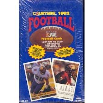 1992 Courtside Football Hobby Box