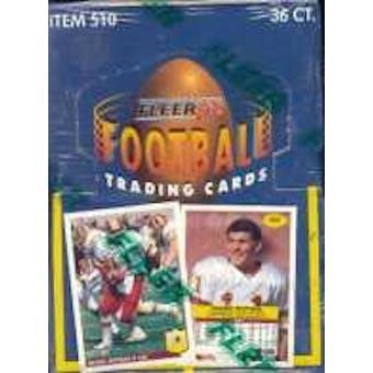 1992 Fleer Football Wax Box