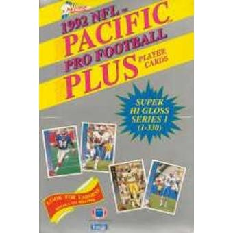 1992 Pacific Plus Series 1 Football Wax Box