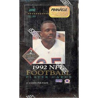 1992 Pinnacle Football SuperPack Hobby Box (Reed Buy)