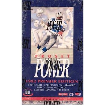 1992 Pro Set Power Football Hobby Box