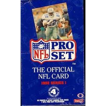 1992 Pro Set Series 1 Football Hobby Box