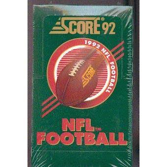 1992 Score Football Hobby Box