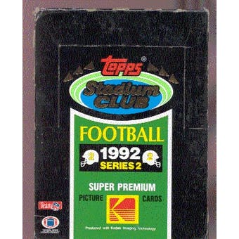 1992 Topps Stadium Club Series 2 Football Hobby Box
