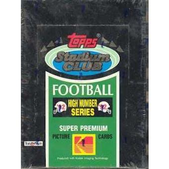 1992 Topps Stadium Club Series 3 Football Hobby Box (High #'s)