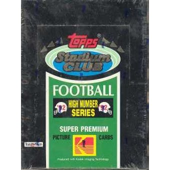 1992 Topps Stadium Club Series 3 Football Hobby Box (High #'s)