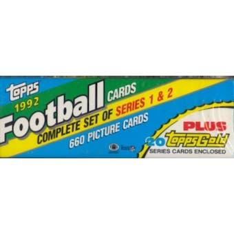 1992 Topps Football Factory Set (Christmas Box)