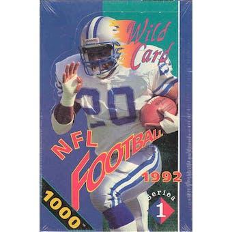 1992 Wild Card Series 1 Football Hobby Box