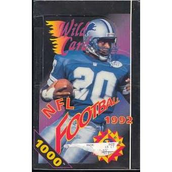 1992 Wild Card Series 2 Football Hobby Box