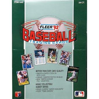 1992 Fleer Baseball Rack Box